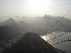 View from the top of Sugarloaf Mountain, Rio de Janeiro